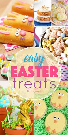 Homemade easy easter treats make a beautiful addition to any Easter-themed get together that both kids and adults will enjoy. from @tidymom Easter Snacks, Easter Appetizers, Easter Candy, Hoppy Easter, Easter Treats, Easter Recipes, Easter Food, Easter Decor, Easter Stuff