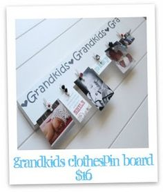 Grandkids photo clip board
