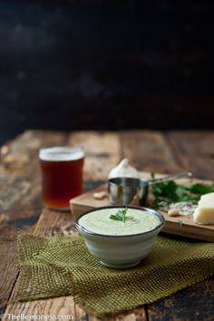 Creamy White Bean Beer Cheese Dip. Five minutes, no bake.
