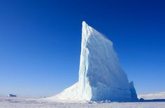 Natural architecture. Iceberg, Scoresby Sund, East Greenland.