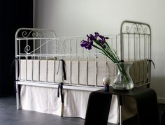 Crib bumper Certified linen and natural cotton by LovelyHomeIdea, $115.00