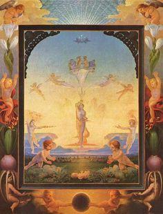 1808 The Morning - Philipp Otto Runge. Simbolismo