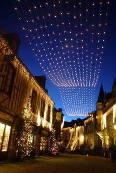 Illuminations et féerie de Noël à Rochefort-en-Terre Morbihan Bretagne Sud