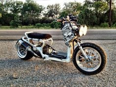In a bidding war for this Honda Ruckus - custom, stretched, lowered, motor swap, fatty wheel. ITS GOING TO BE MINE!!!