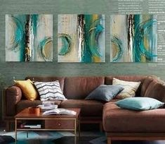 3 Piece Canva Paintings, Acrylic Painting for Living Room, Multiple Wall Art Paintings – Silvia Home Craft 3 Piece Canvas Art, 3 Piece Painting, Hand Painting Art, Acrylic Painting Canvas, Texture Painting, Canvas Wall Art, Large Painting, Large Canvas, Acrylic Art