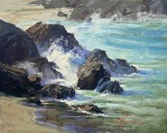 Shark Harbor Surf By Kim Lordier, pastel