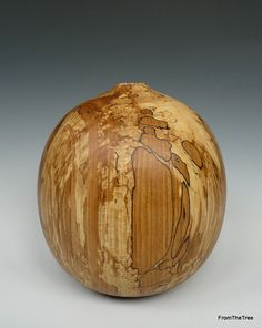 Spalted beech ovoid form