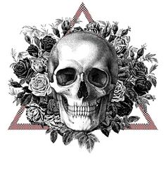 Vandal - flowers and skull by TiaFia