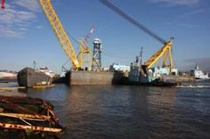 The grounded tanker ship during Hurricane Sandy was moved