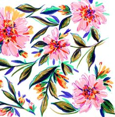 Hand-Painted Sketches from Natalia Gemma Design. Natalia creates and sells original patterns for fashion, home and paper products.