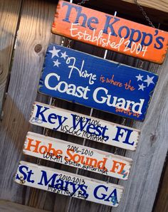 I want! With our stations and name instead of course https://www.etsy.com/listing/188640230/home-is-where-the-military-sends-us-hand