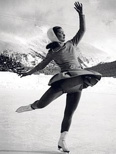 Barbara Ann Scott, my figure skating heroine and everyone had a B.A.S knitted or crocheted hat.