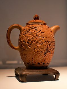 Gorgeous pottery teapot.