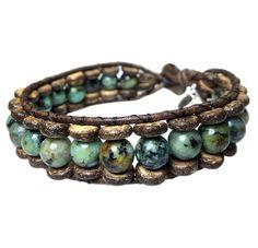 Men's bracelet classic B8 Cocos / African Turquoise