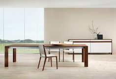 Beautiful Modern home sustainable wood dining table