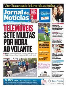 Veja a capa do JN desta quarta-feira, 30 de maio. Destaque para o número de multas passadas em Portugal a condutores que falam ao telemóvel.