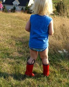 gotta love them' red rubber boots.