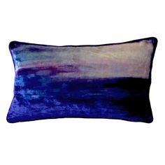 foundling - 'isle of skye' silk velvet printed cushion cover