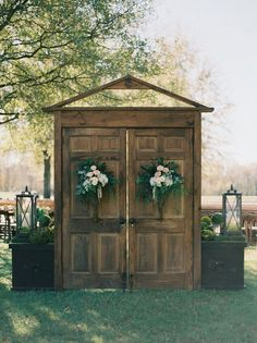 20 Rustic Outdoor Wedding Ceremony Entrance Ideas with Old Doors On a Budget - Oh Best Day Ev. 20 Rustic Outdoor Wedding Ceremony Entrance Ideas with Old Doors On a Budget - Oh Best Day Ever 20 Rustic Outdoor Weddin. Outdoor Wedding Entrance, Wedding Ceremony Backdrop, Outside Wedding, Outdoor Ceremony, Outdoor Weddings, Wedding Arches, Rustic Weddings, Farmhouse Wedding Venue, Retro Weddings