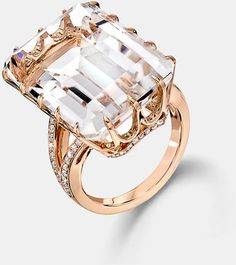 IVANKA TRUMP   Rock Crystal Diamond Accent Ring