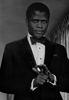 "Sidney Poitier in a scene from ""For Love of Ivy"" in Mr. Poitier, the author three memoirs, released his first novel, ""Montaro Caine,"" early this month. (Vintage Black Glamour - clic pic for more source) Vintage Hollywood, Classic Hollywood, Hollywood Regency, Vintage Black Glamour, Vintage Beauty, Vintage Men, Black Actors, Black Celebrities, Looks Black"