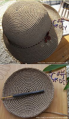 Crochet and knitting - knitting - # hats knit gorros ganchillo Crochet Beret Pattern, Crochet Beanie, Crochet Stitches, Knitted Hats, Crochet Patterns, Sombrero A Crochet, Crochet Summer Hats, Diy Crafts Crochet, Crochet Patron