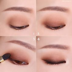 makeup tips ideas life hack nose contour eye makeup eyeshadow natural makeup brows Korean Makeup Look, Korean Makeup Tips, Asian Eye Makeup, Korean Makeup Tutorials, Asian Makeup Natural, Ulzzang Makeup Tutorial, Exotic Makeup, Eyeshadow Tutorials, Natural Beauty
