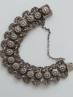 Vintage antieke armband met 'markasieten' - Costume jewelry en sieraden - Vintage