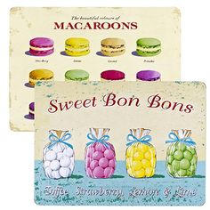 Sweet Treats Placemats - From Lakeland Bakery Kitchen, Home Bakery, Bakery Supplies, Kitchen Themes, Macaroons, Kitchenware, Sweet Treats, Lime, Creative