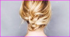 Vintage Hairstyles Updo 12 Incredibly Chic Updo Ideas for Short Hair via - These updos for short hair are easy to execute and look amazing. You won't need to carve out a lot of extra time to do them, either. Cute Hairstyles Updos, Trending Hairstyles, Vintage Hairstyles, Summer Hairstyles, Hairstyle Ideas, Very Short Hair, Braids For Short Hair, Chignon Simple, Thin Hair Updo