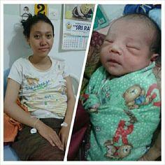 Bunda setelah melahirkan Alano yang sudah ditunggu-tunggu selama sembilan bulan.