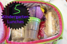 5 Kindergarten Lunches