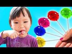 kid and Mommy pretend play with Fruit Lollipops Finger Family Song, Youtube, Pretend Play, Little Ones, Playroom, Make It Yourself, Fruit, Kids, Lollipops