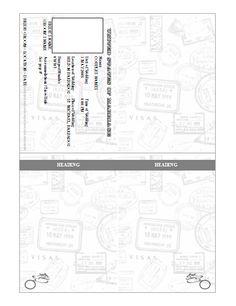Passport Invitation Template Basic 30 Before 30 Pinterest