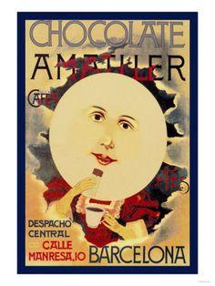 Chocolate Amatller: Barcelona Premium Poster at Art.com