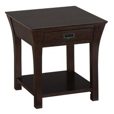 Jofran 394-3 Canted Leg End Table with Drawer and Shelf in Artisan Birch $279