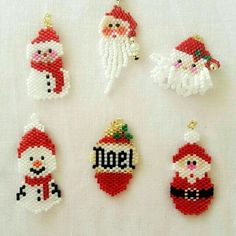 Native Beading Patterns, Beaded Earrings Patterns, Beaded Christmas Decorations, Beaded Ornaments, Christmas Earrings, Christmas Jewelry, Beading Projects, Beading Tutorials, Bead Embroidery Jewelry