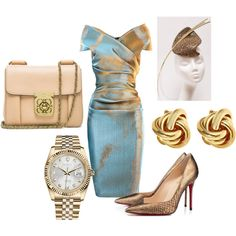 A fashion look from July 2013 featuring bronze dress, sexy stilettos and purse shoulder bag. Browse and shop related looks.