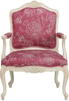 I love this PINK and white chair.I believe it might be a 'must have' for wedding photos and I can have it as a makeup chair after. Prefer it to be a solid pink. Cheap Chairs, Cool Chairs, Awesome Chairs, Pink Accent Chair, Accent Chairs, Custom Furniture, Home Furniture, White Desk Chair, Barbie Dream House