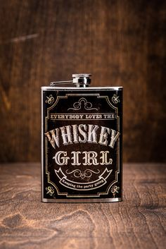 Whiskey Girl Hip Flask