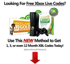 learn how you can get free xbox live gold codes