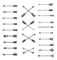 Arrow clipart white background aztec arrows vector - by Sssilent on VectorStock®