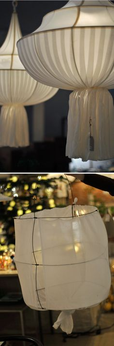 display idea ~ inspired lanterns.