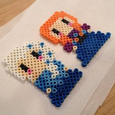 Anna and Elsa - Frozen perler magnets by liznelson531