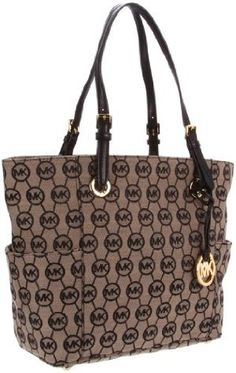 Michael Kors Grayson Signature / Monogram Tote - Side Pockets - Black (MK  BAGS,