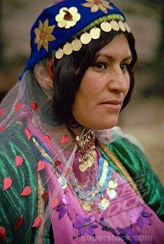 Female nomad (Chaharmahal va Bakhtiari nomads) Iran
