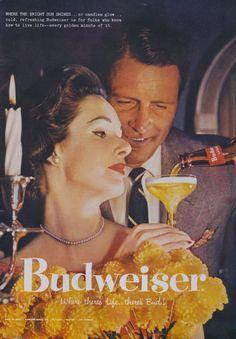 Budweiser Beer Rare Ad 1957 Mad Men Era by AdVintageCom on Etsy