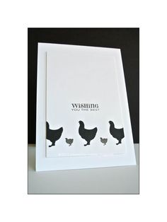 CAS card - chicken stamp card , Simply {S}