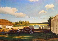 Luigi Premazzi - Eventide in Little Russia [mid-19th century]  #19th #Classic #Luigi #Premazzi #Painting