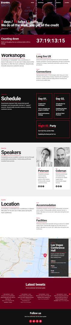 Eventim is Premium full Responsive Retina Parallax #Conference #WordPress template. Video Background. #OnePage. Google Map. Test free demo at: http://www.responsivemiracle.com/cms/eventim-premium-responsive-event-conference-wordpress-theme/